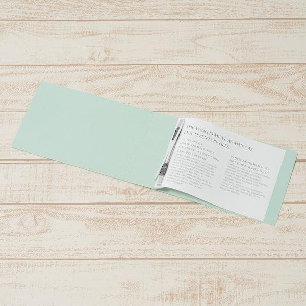 フラットファイル厚とじ A5横 青30冊