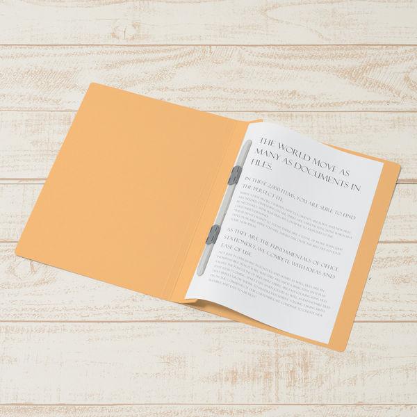 フラットファイル B5タテ 黄 100冊