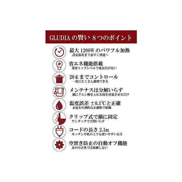 GLUDIA低温調理器GLU-INM01