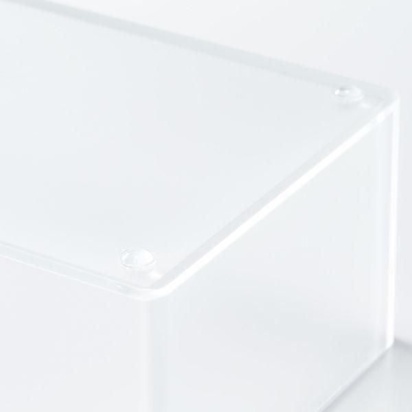 無印良品 アクリル卓上用ティシューボックス ティシュー 約幅14×奥行11.5×高さ7cm 02578480 良品計画