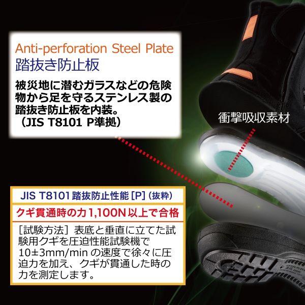 ミドリ安全 救助仕様 静電安全靴 RT541GF Pー4CAP静電 先芯あり 25.5cm 1足(直送品)
