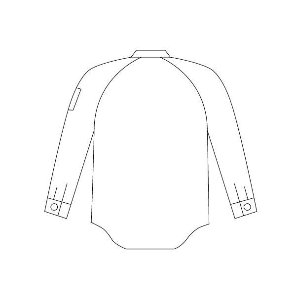 ミドリ安全 綿100% 男子長袖シャツ GS2371 上 シルバーグレー S 1着(直送品)