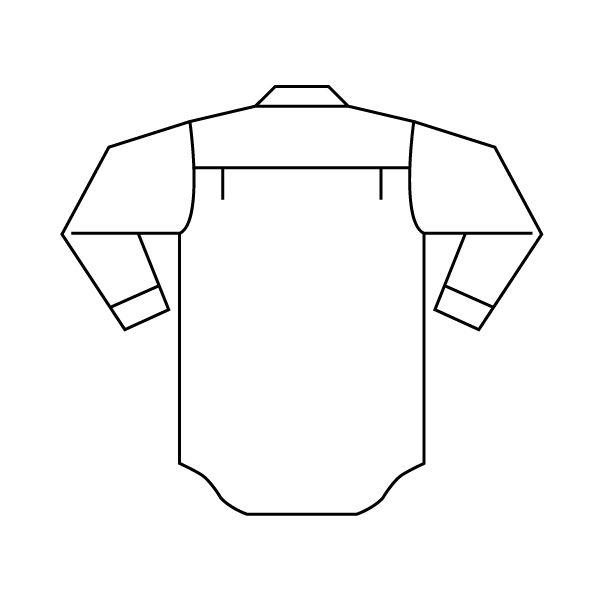 ミドリ安全 ペア長袖ストライプシャツ RCS2431 上 グレー S 1着(直送品)