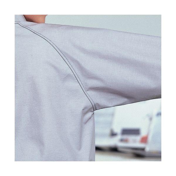 ミドリ安全 ペア長袖カラーシャツ RCS2313 上 ブルー L 1着(直送品)