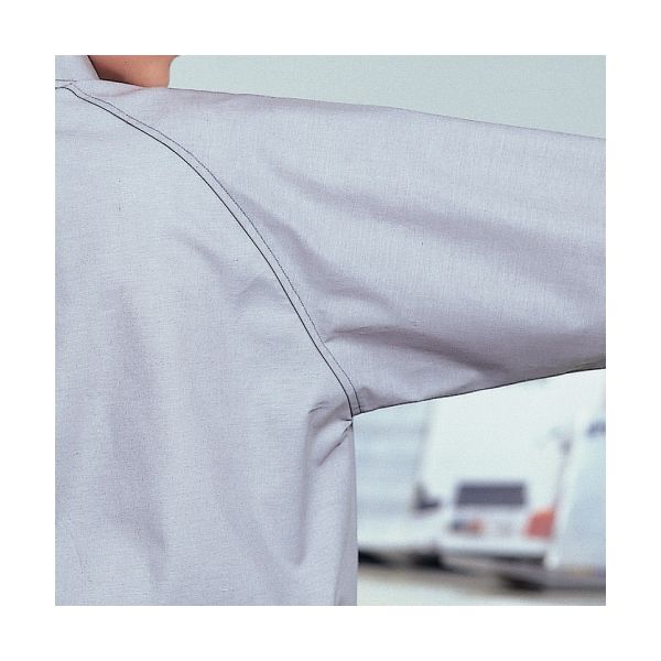 ミドリ安全 ペア長袖カラーシャツ RCS2313 上 ブルー S 1着(直送品)
