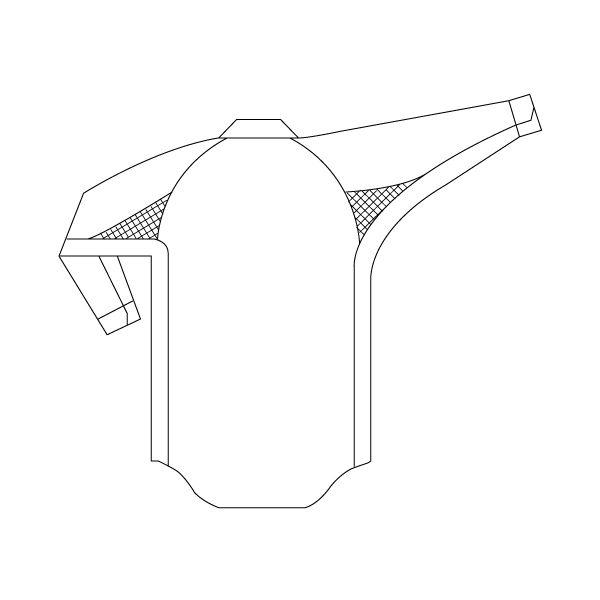ミドリ安全 男子長袖シャツ RCS2200 上 アイボリー S  1着(直送品)