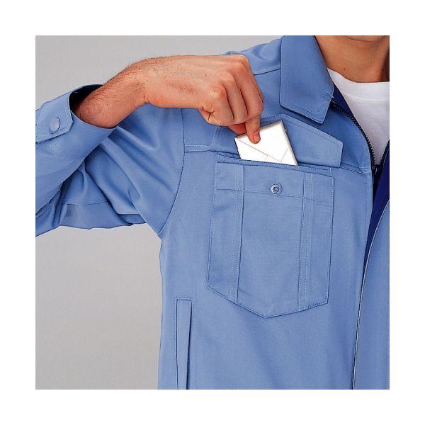 ミドリ安全 混紡 ペア長袖シャツ GS2351 上 シルバーグレー L 1着(直送品)