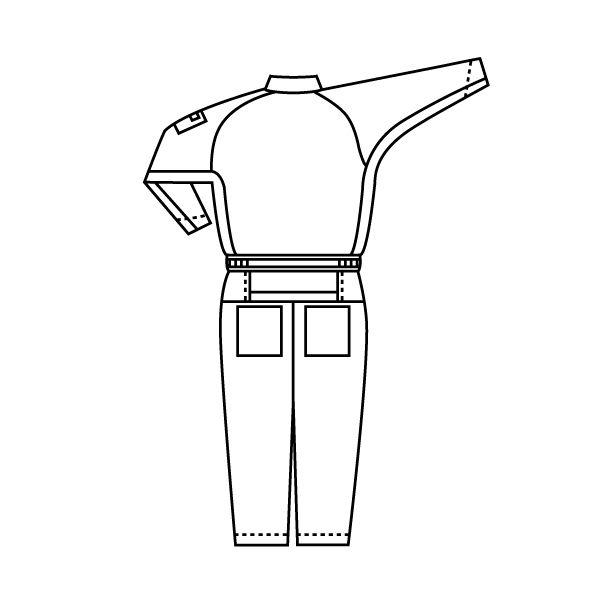 ミドリ安全 リサイクル帯電防止ツナギ RC403 ブルー  L  1着(直送品)