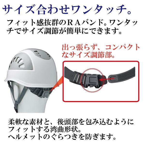 ミドリ安全 ヘルメット ABS ホワイト/グレー SC-17BV RA KP付 1個 (直送品)