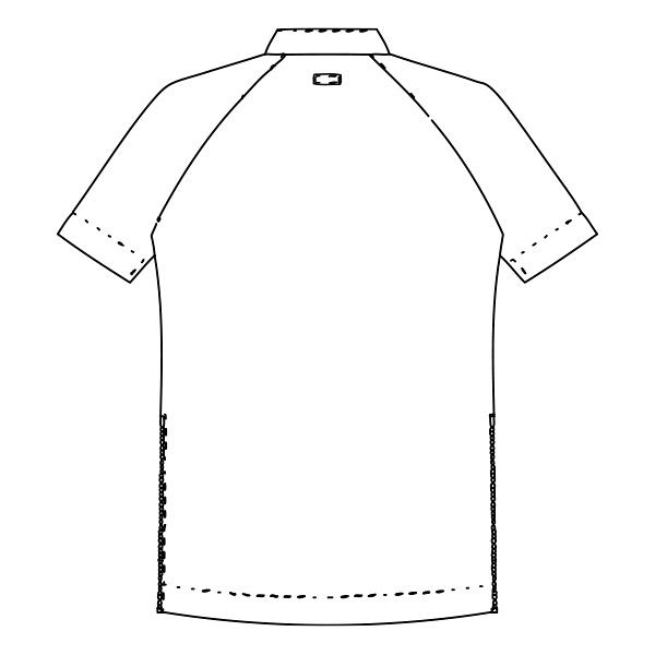 KAZEN クラリタメンズジャケット 半袖 ホワイト×ネイビー LL CIS300-C28 (直送品)
