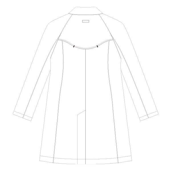 KAZEN クラリタメンズ診察衣(ハーフ丈) ドクターコート 長袖 ホワイト シングル M CMA210 (直送品)