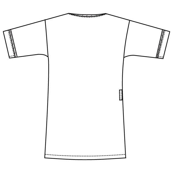 メンズジップスクラブ 1016EW-7 ホワイト×ネイビー S (直送品)