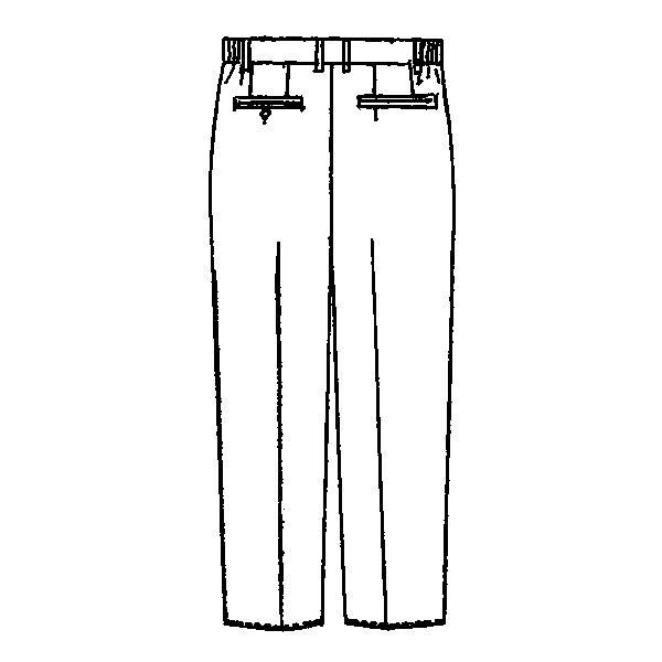 KAZEN メンズスラックス 医療白衣 ホワイト M 252-20 (直送品)
