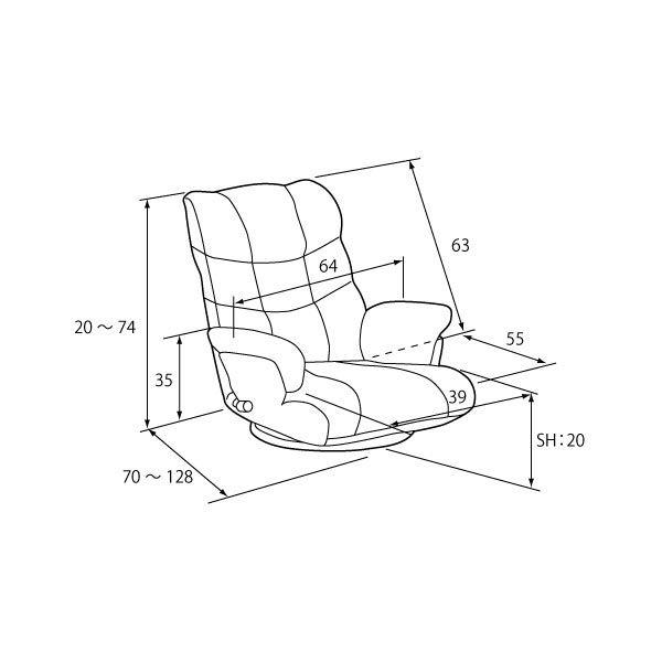 スーパーソフトレザー座椅子 神楽