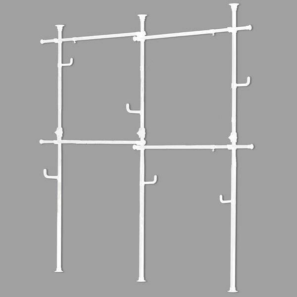 ドリームウェア ドリームハンガー ワンタッチ式突っ張りハンガー 幅1700-3120×奥行1160×高さ1550-2550mm ホワイト (直送品)