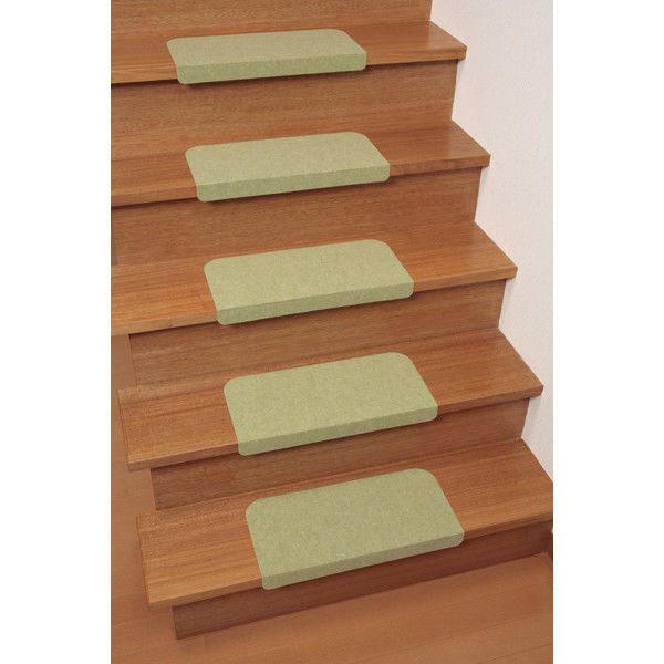 サンコー 折り曲げ付階段マット 単色