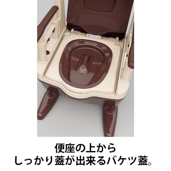 アロン化成 安寿 ポータブルトイレ ジャスピタ 標準便座 ベージュ 1台 533-920 (直送品)