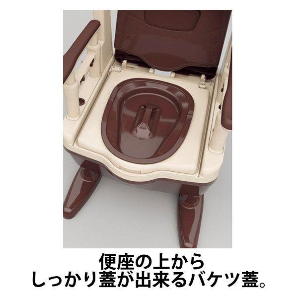 アロン化成 安寿 ポータブルトイレ ジャスピタ 暖房・快適脱臭 ベージュ 533-925 (直送品)
