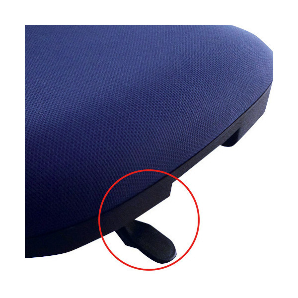 SOHOチェア FZCシリーズ オフィスチェア 布張り 肘無し ブラック FZC-16BK 1脚 くろがね工作所 (直送品)