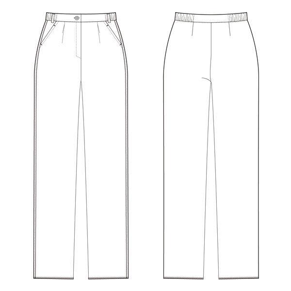 ルコックスポルティフ 医療白衣 スクラブパンツ レディースストレートパンツ ネイビー 4L UQW2032 1マイ (直送品)