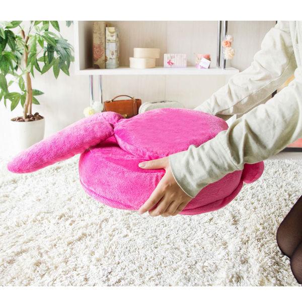 アニマル座椅子 うさぎ(ピンク)