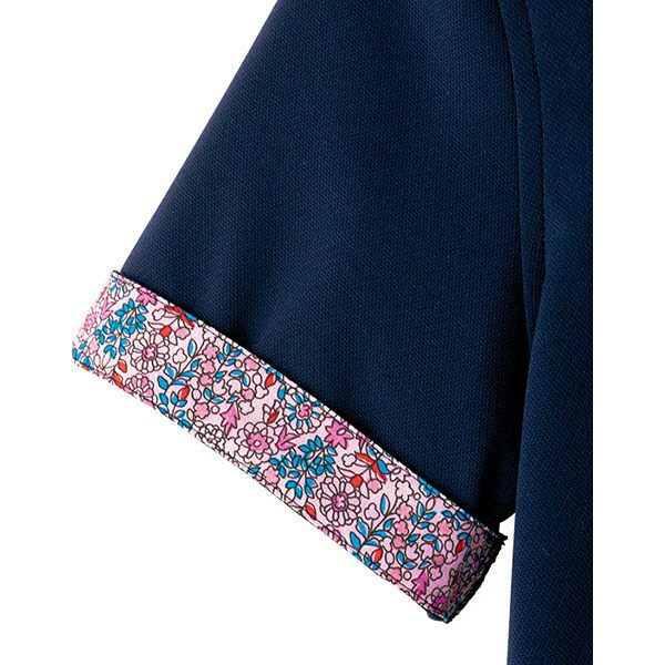 【メーカーカタログ】ボンマックス メンズ吸水速乾ポロシャツ(花柄B) ネイビー M FB5025M 1枚 (直送品)