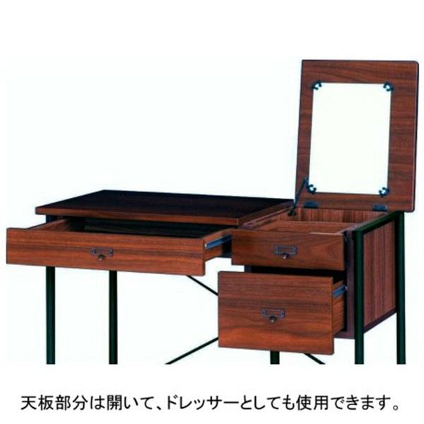 佐藤産業 Caronデスク ブラウン 幅900×奥行450×高さ720mm 1台 (直送品)