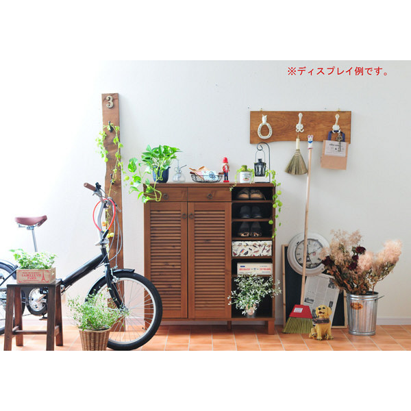 佐藤産業 ENTOシューズ&ストッカー 幅900mm×高さ1041mm ブラウン ET100-90BR 1台 (直送品)