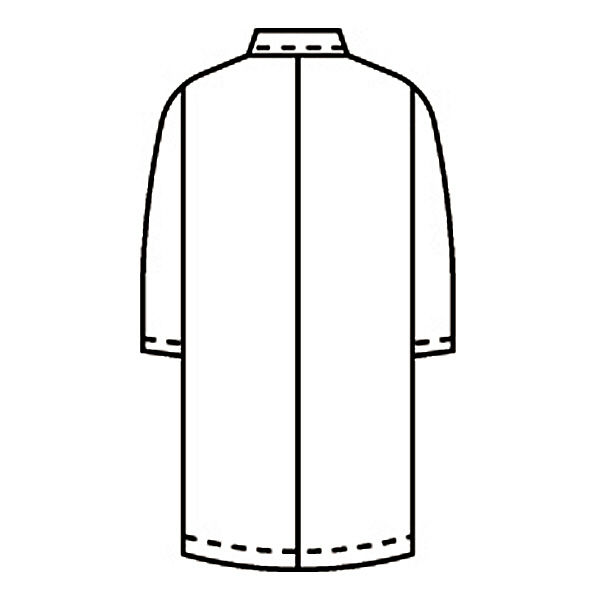 KAZEN レディス診察衣W型長袖(ドクターコート) 医療白衣 オフホワイト ダブル 3L 265-90 (直送品)