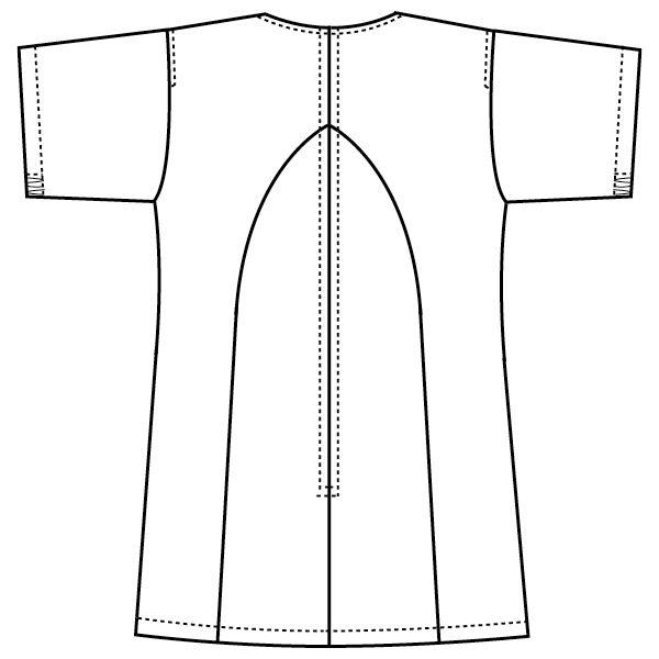 フォーク 医療白衣 ワコールHIコレクション レディススクラブ(後ろジップ) HI700-9 ブラック LL (直送品)