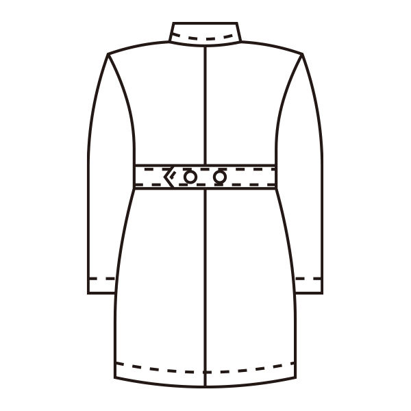 KAZEN 医療白衣 レディス薬局衣(ハーフ丈) シングル 長袖 261 ミントグリーン L ドクターコート 薬局衣 1枚 (直送品)