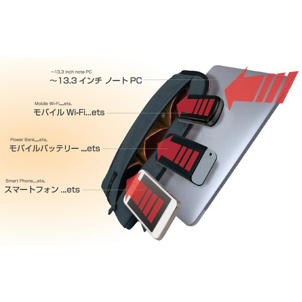 ナカバヤシ FIX IN 13インチPCケース ストーンブラック SZC-FIXF002BK (直送品)