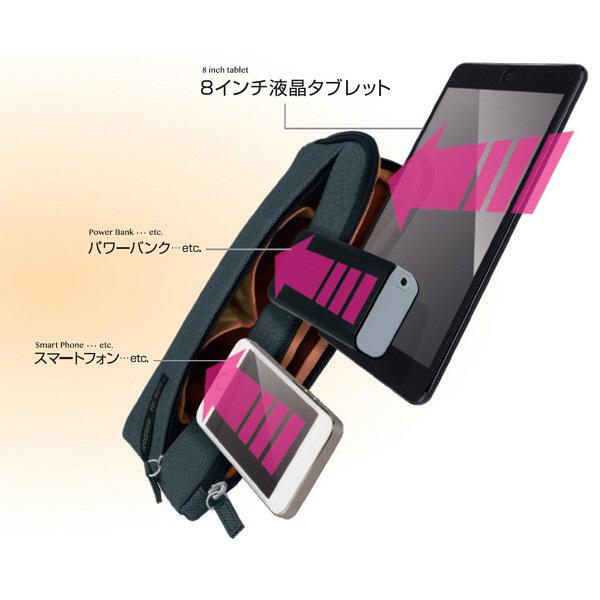 ナカバヤシ FIX IN 8インチタブレットケース ネイビー TBC-FIXF08NB (直送品)