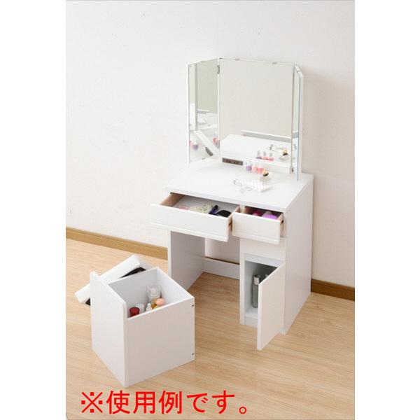 YAMAZEN(山善) 鏡面ドレッサー 2点セット FMDS-1360RR(WH) ホワイト 2点セット (直送品)