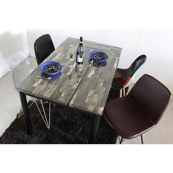 ダイニングテーブル 幅1300×奥行800×高さ730mm ブラック 54061550 東馬 (直送品)