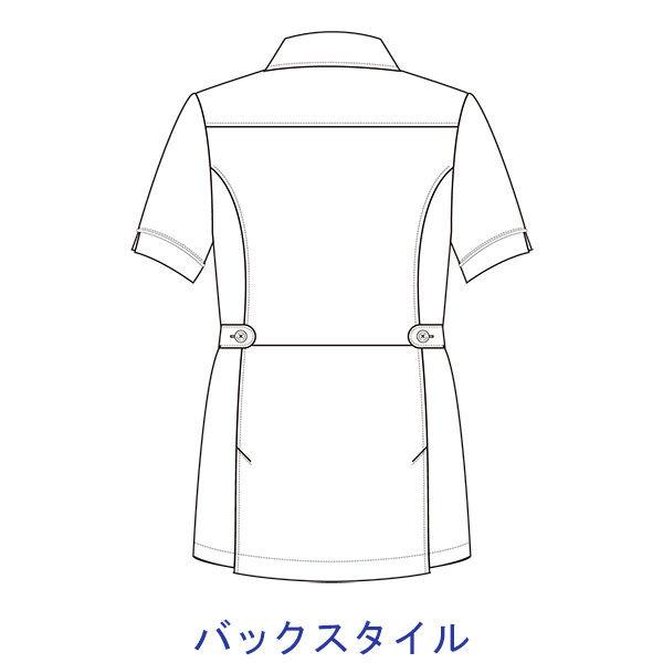 大真 透けない白衣 レディスジャケット NJ200 白銀(プラチナシルバー) LL 医療白衣 1枚 (直送品)