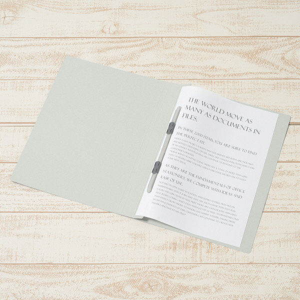 プラス PPフラットファイルA4S厚とじGY 98349 (直送品)