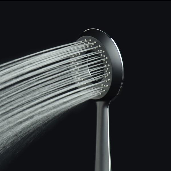 マジカヨ・アリエーネ シャワーヘッド 大型噴板 バイカラー(大流量 しっかりした浴び心地 NIKLES マットブラック)GA-FA008 (直送品)