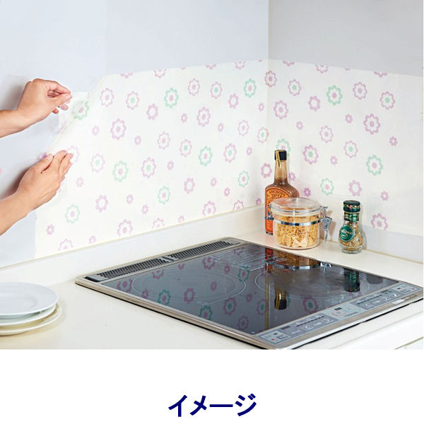 拭き取り簡単キッチンシート2枚デイジー