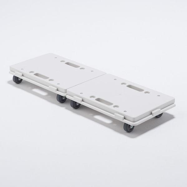 縦にも横にも連結できるPP平台車