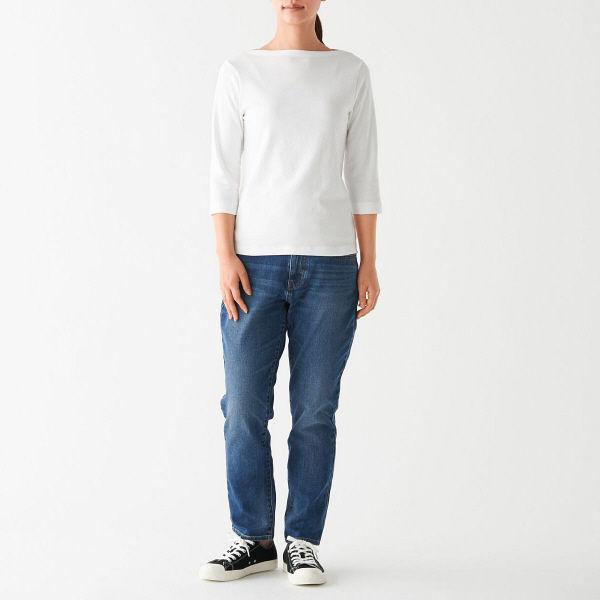 無印 フライス編みTシャツ 婦人 XL