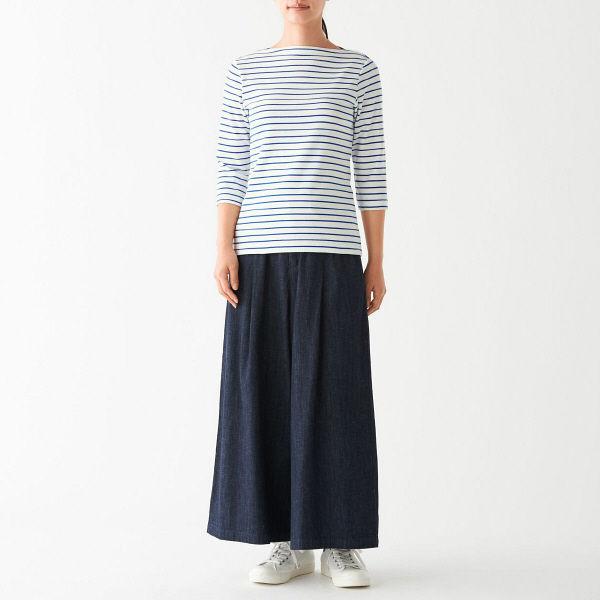 無印 フライス編みTシャツ 婦人 M