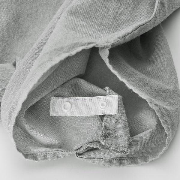 綿洗いざらし掛ふとんカバー・S/生成