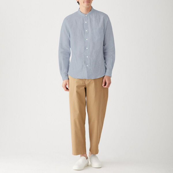 無印 フレンチリネンシャツ 紳士 L