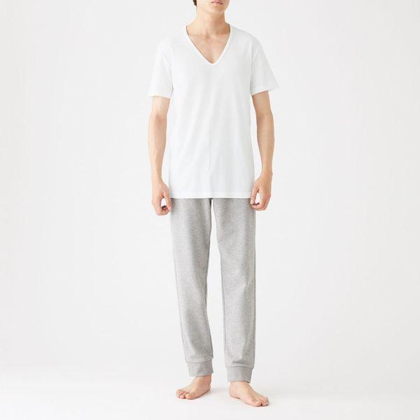 無印 綿でさらっと半袖Tシャツ 紳士S