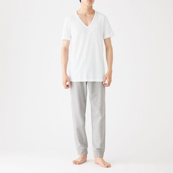 綿でさらっとVネック半袖Tシャツ 紳士L