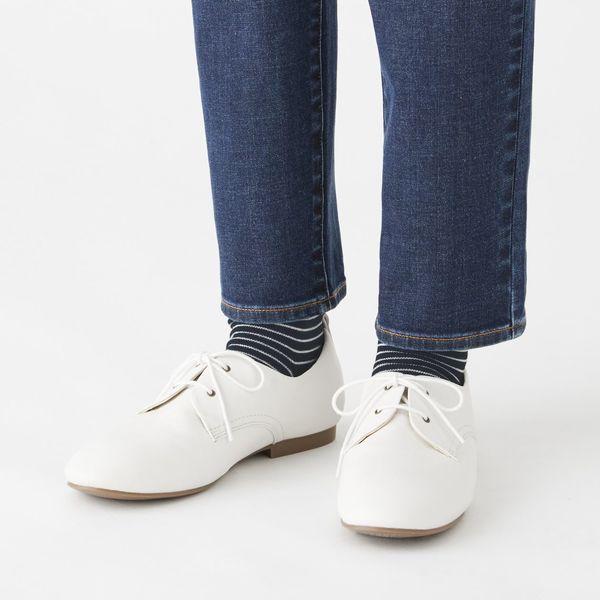 無印 直角口ゴムなしショート丈靴下 3足