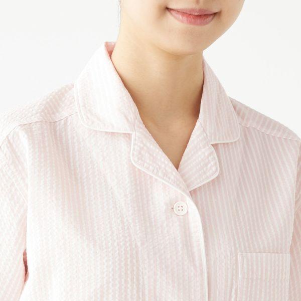 無印 サッカー織り半袖パジャマ 婦人 M