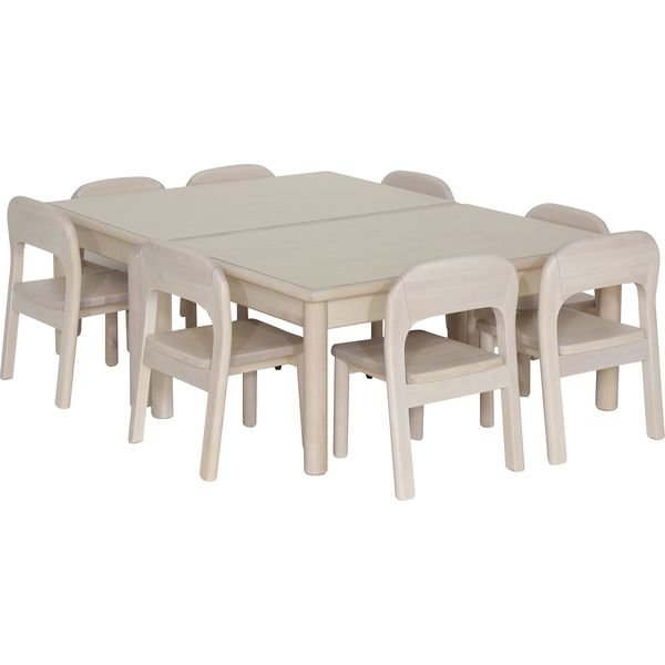 大和屋 コントラクトシリーズ キッズテーブル 4才 幅982×奥行600×高さ400mm ナチュラルホワイト 2685 1台(取寄品)