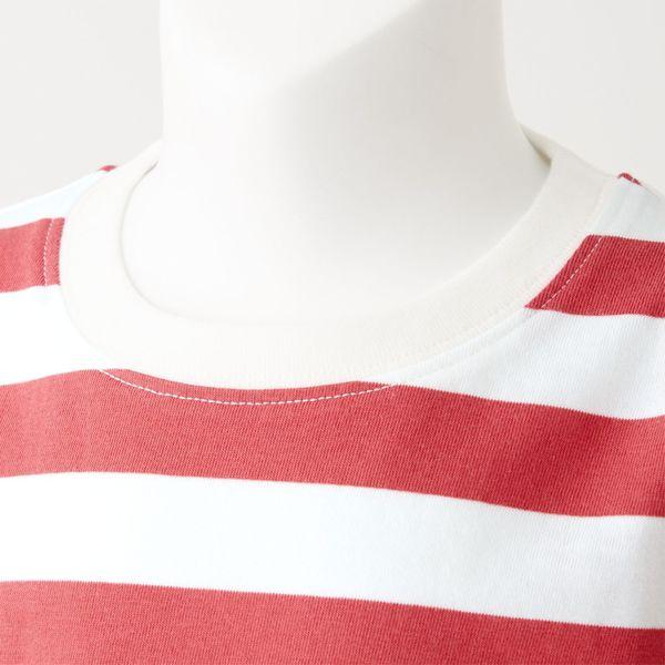 無印 天竺編ボーダー半袖Tシャツ 80